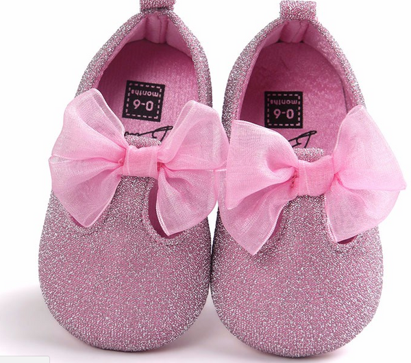 Bow Baby Glitter Pink