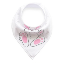 Bandana Bib - White Bunny - Three Bears Kids