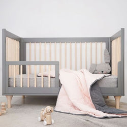 Mister Fly - Pink/Charcoal REVERSIBLE Cot Quilt