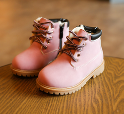 Pink Work Boots - Three Bears Kids