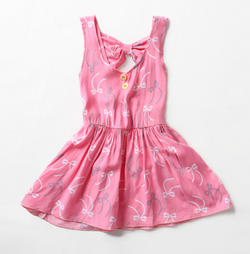 Pink Bow Bows Dress
