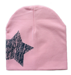 Beanie - Pink And Navy Star - Three Bears Kids