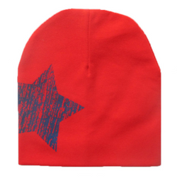 Beanie - Red And Navy Star - Three Bears Kids
