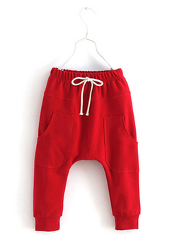 Red Harem Pants - Three Bears Kids