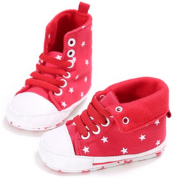 Baby Star Booties - Red