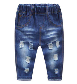 Ripped Jeans - Dark Blue - Three Bears Kids