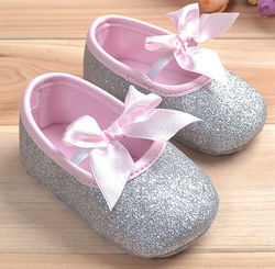 Baby Glitter Shoes - Silver - Three Bears Kids