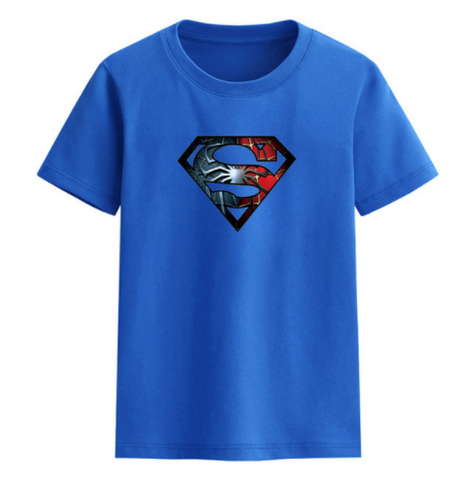 Superman T-Shirt BLUE  -  4 Years Plus