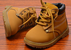 Kids Work Boots - Tan