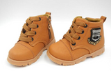 Leather Tan Boots - Three Bears Kids