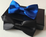 Bow Tie - Royal Blue Satin - Three Bears Kids