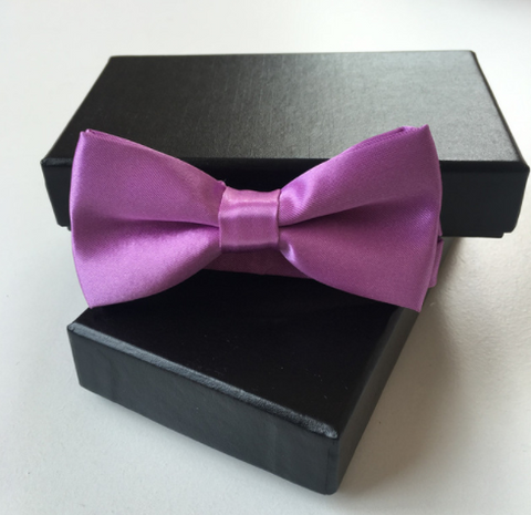 Bow Tie - Violet Satin - Three Bears Kids