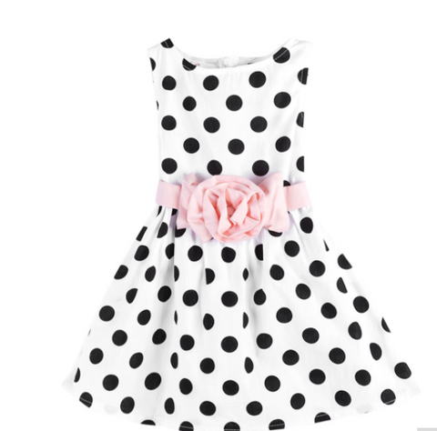 White Spotty Dress - Three Bears Kids