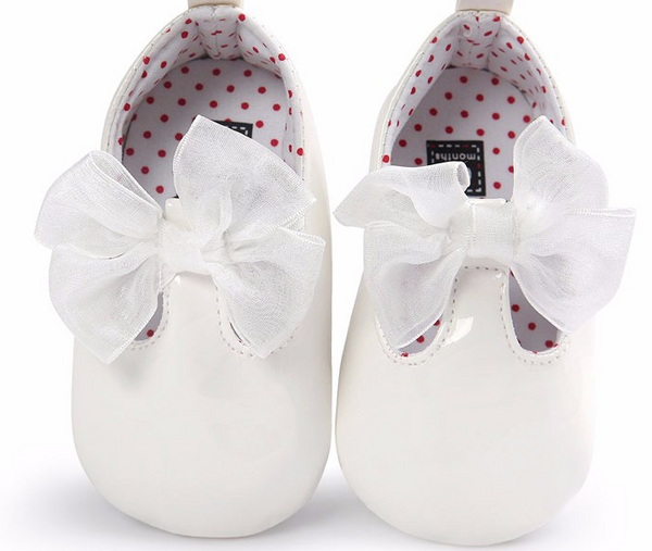 Bow Baby White Patent