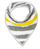 Bandana Bib - Yellow And Grey Stripes - Three Bears Kids