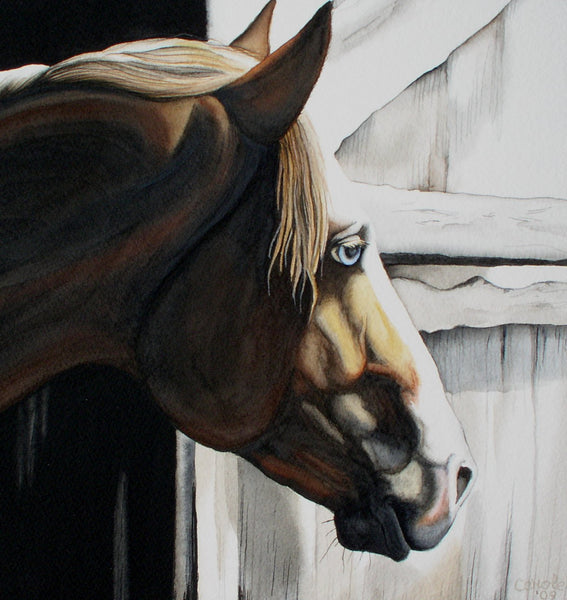Fine Art Horse Painting in Watercolors