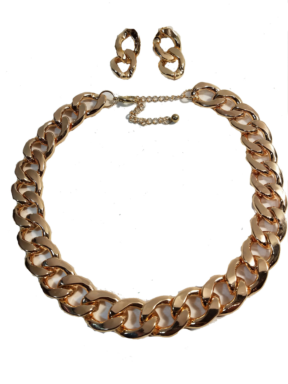 Gold Plated Chunky Solid Twist Style Fashion Chain Chunky Thick Link 20
