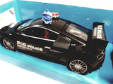 Weishengda Black Police Squad Car Racing Control 1/16 Scale R/C Fully Functional 27MHZ Vehicle
