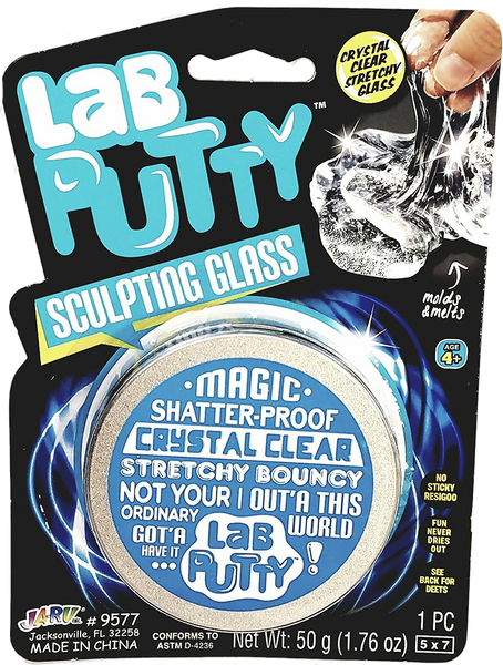 Lab Putty Magic Sculpting Glass Crystal Clear Stretchy Bouncy 50g Putty
