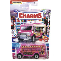 Matchbox Limited Candy Series Pink Charms Chow Mobile Truck 1/64 S Scale Car Diecast