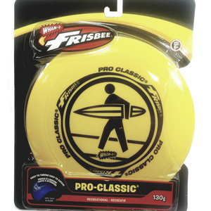 "Wham-O Yellow Pro Classic Frisbee Surfs Up Graphics 130g 10"" Durable Round Frisbee Flying Disc Toy"