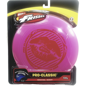 "Wham-O Pink Pro Classic Frisbee HOT Lips Graphics 130g 10"" Durable Round Frisbee Flying Disc Toy"