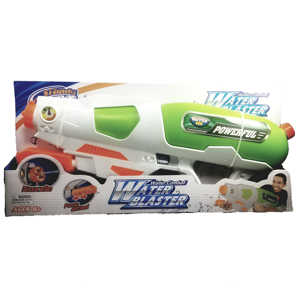 Steady Stream White-Blue-Green Extra Large Easy Pump Action 24