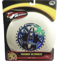 "Wham-O White Ultimate Frisbee Catch Graphics 175g 10.75"" Durable Round Frisbee Flying Disc Toy"
