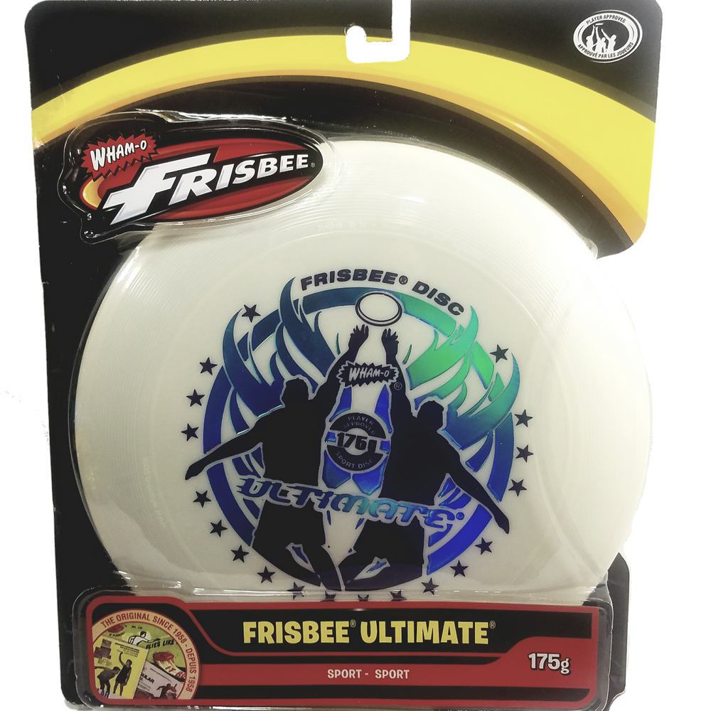 Wham-O White Ultimate Frisbee Catch Graphics 175g 10.75