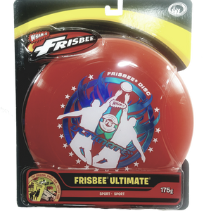 "Wham-O Red Ultimate Frisbee Catch Graphics 175g 10.75"" Durable Round Frisbee Flying Disc Toy"