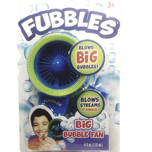 Little Kids Green/Blue Fubbles Biggest Bubbles Fan for Kids Includes 4oz of Bubbles