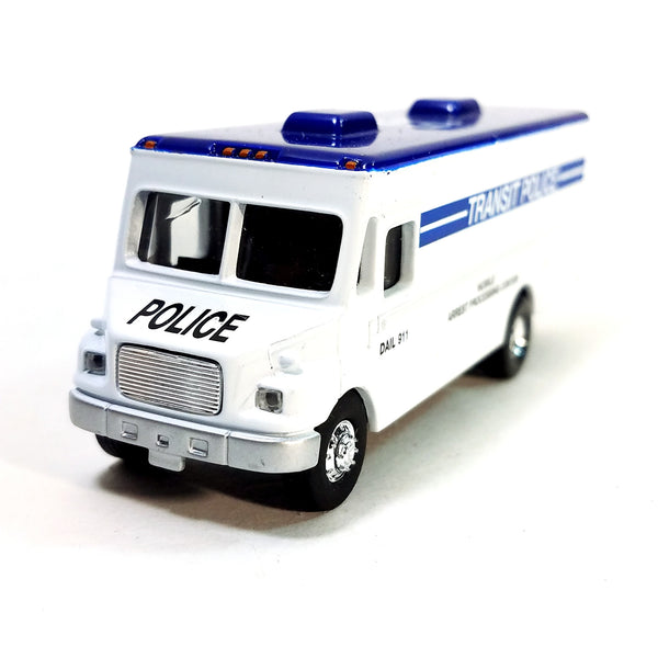 Transit Police MT-55 Freightliner Mobile Arrest Processing Center 1/87 HO Sca...