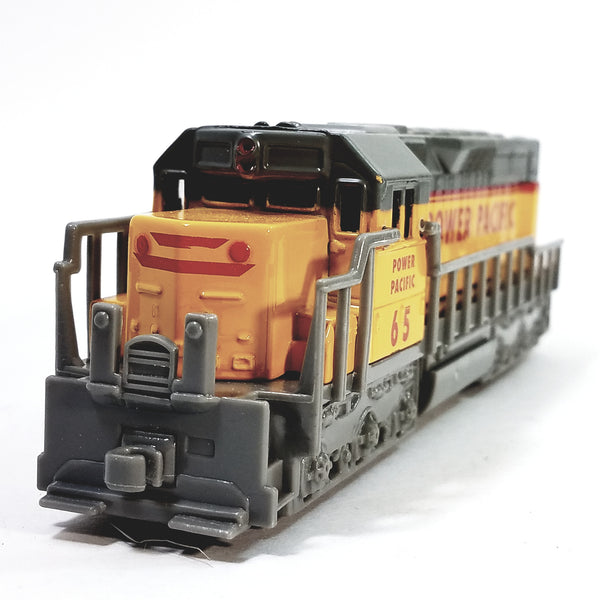 "Freight Loco Power Pacific #65 Yellow & Gray Locomotive 7"" Diecast"