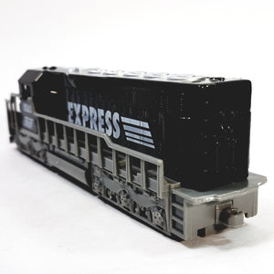 "SF Toys Freight Loco Power EXPRESS Black & Gray Locomotive 7"" Diecast"