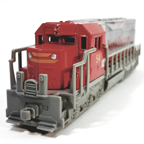 "Freight Loco North Southern #54 Red & Gray Locomotive 7"" Diecast"