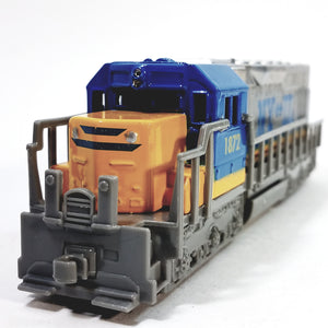 "SF Toys Freight Loco NY To Illinois  #1872 Yellow,Blue & Gray Locomotive 7"" Diecast"