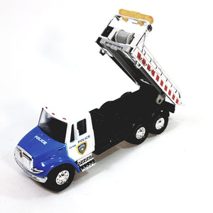 Showcast International Blue & White Police Flatbed Tow Truck Wrecker 1/64 Scale