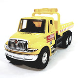 Showcast International Heavy Duty Yellow Flatbed Tow Truck 1/64 Scale