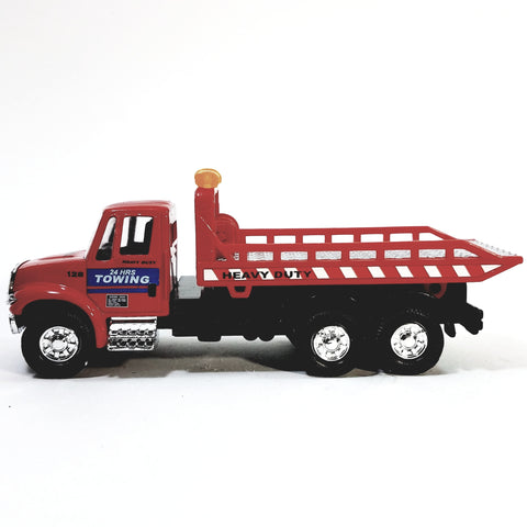 Showcast International Heavy Duty Red Flatbed Tow Truck 1/64 Scale