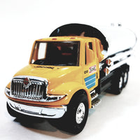 "Showcasts International Yellow Transport Silver Oil Tanker 5"" Diecast Truck"