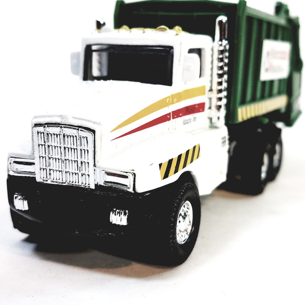 SF Toys White & Silver Garbage Truck Recycle/Waste Management Dept 6