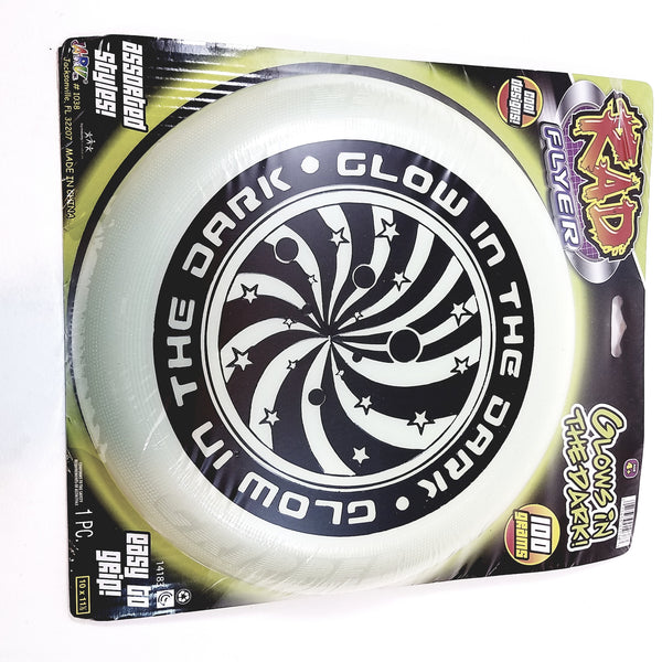 Rad Flyer Glow In The Dark White Frisbee With Graphics Flying Disc Toy