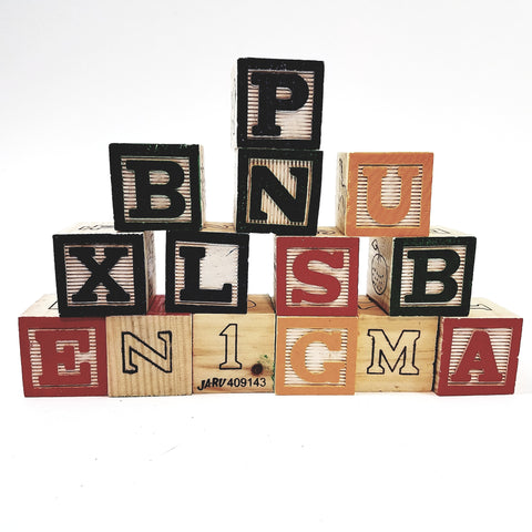 Fun With Letters ABC 15 Wood Blocks Classic Learning Preschool Educational Toy