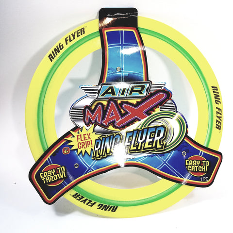 Air Max Flex Grip Ring Flyer Yellow Frisbee Round Disc Toy
