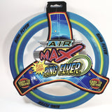 Air Flex Max Grip Ring Flyer Blue Frisbee Round Disc Toy