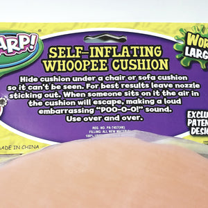 FLARP Largest  Self Inflating Whoopee Cushion Fart Bag Noise Maker Gag/Joke Novelty Toy