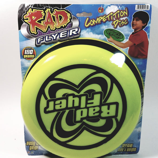 Rad Flyer Yellow Competition Disc 180 Grams Words On Frisbee With Official Si...