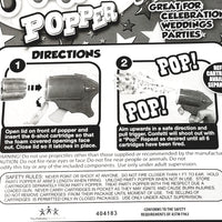 Party Popper Confetti Shooting Toy Gun/Pistol 1 Refill (6 Shots) Included