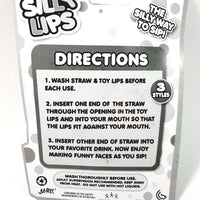 Silly Lips Silly Straw Big Red Lips Novelty Straw