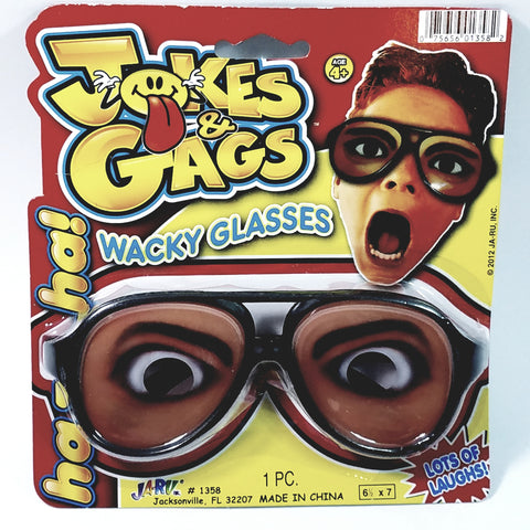 Gags & Jokes WACKY GLASSES ANGRY  EXPRESSION/SPECS BLACK FRAME FUNNY COSTUME N...
